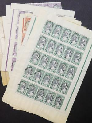 EDW1949SELL : ALBANIA 1928 Sc #235-7. 100 copies of each. All VF MNH. Cat $1,650