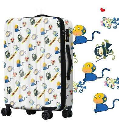 A652 Cartoon Monkey Universal Wheel ABS+PC Travel Suitcase Luggage 28 Inches W