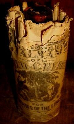 Dr. Wistar's Balsam Of Wild Cherry Diseases Of The Lungs Medicine Bottle Nos