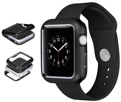 Black Magnetic Snap Case Aluminum Hard Cover for Apple Watch (Series 4, 44mm)