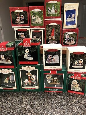 Lot Of 17 Frosty Friends Hallmark Keepsake Ornaments New In Boxes