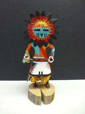 1981 Vintage Sun Tawa Kachina Doll Signed William JAMES 10.25""