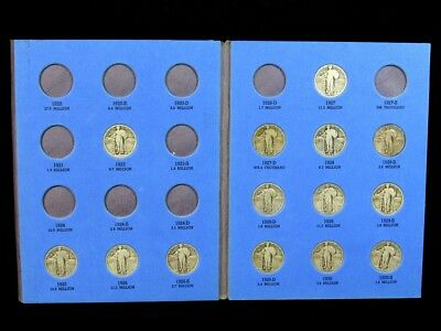 1923-1930 Standing Liberty Quarter Album Set - 14 Silver Coin Collection