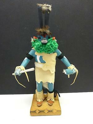 Vintage Antelope Kachina Doll Signed LEO BARBER 12.75""