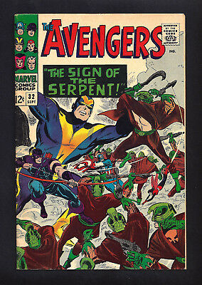 Avengers #32  Fine Very Fine 7.0/7.5!   Very Clean Book!  1966