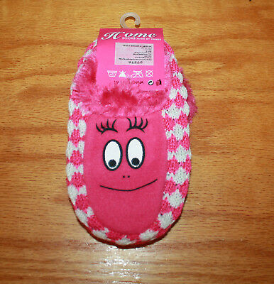 Kids Smiley Face Slipper Socks  with Gripper Bottoms  Pink   Free Shipping