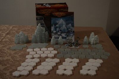 Heroscape: Thaelenk Tundra Expansion Set COMPLETE+EXTRA SNOW TILES (immaculate)