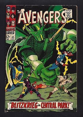 Avengers #45  Fine- 5.5!  Cool Cover!  1967