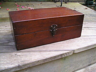 Vintage Teak Wood Lidded Box