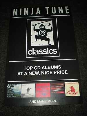 POSTERS by NINJA TUNE classics dj FOR THE NEW RELEASE album cd LOT  #