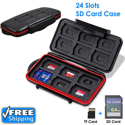 SD Memory Professional Card Waterproof Protection Wallet Holder Carrying Case