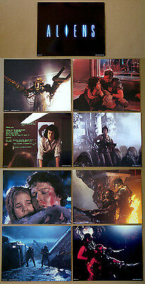 ALIENS James Cameron SIGOURNEY WEAVER Complete 11x14 LOBBY CARD SET of 9