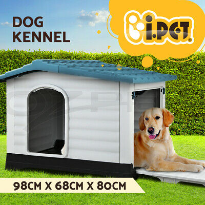 i.Pet Dog Kennel Kennels Outdoor Plastic Pet House Puppy Extra Large XL Outside