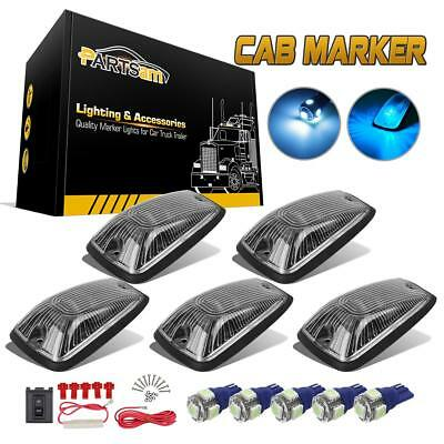 5x Clear 11516638 Cab Running marker light 5-5050-SMD 194 Ice Blue LED for Chevy