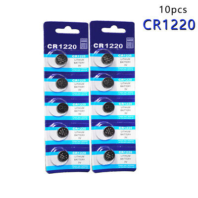 10Pcs Cr1220 Br1220 Ecr1220 Lm1220 3V 210Mah Button Coin Battery For Watch/Toy