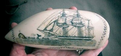 Vintage Maritime FAUX Scrimshaw Replica Phoenix Of London