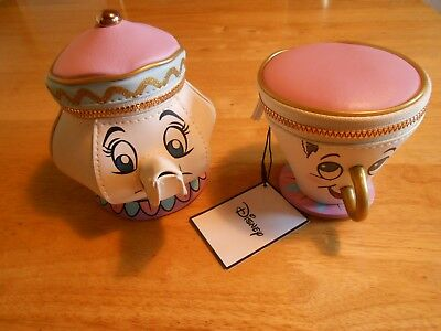 Beauty And The Beast Disney Primark Teapot And Coin Purse Tagged New