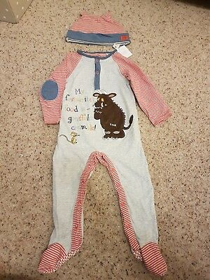 Gruffalo boy/girl babygrow and hat 12-18months