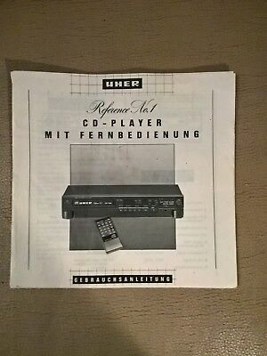 UHER CD Player Reference No1   BEDIENUNGSANLEITUNG   MANUAL   int shipping