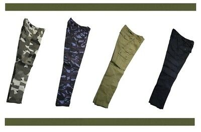 Kids Army/Cubs/Beavers/Scout Combat Trousers (6 Pocket) **Great Value**