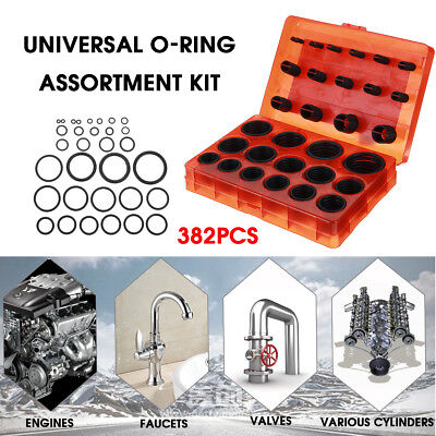 382x Universal O-Ring Assortment Set Metric Kit Car Hand Tool Seal Rubber Gasket