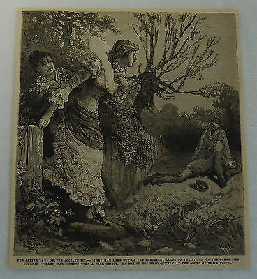 1882 magazine engraving ~ THE JOCELYN SIN, General Jocelyn bending over man
