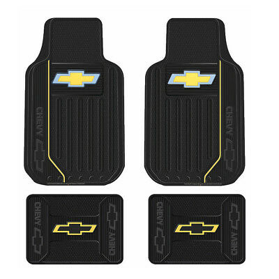 New Chevy Elite Bowtie Logo Car Truck Front / Back All Weather Rubber Floor Mats