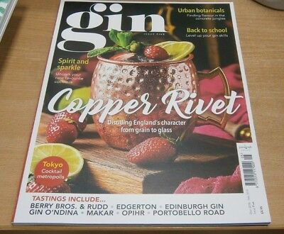 Gin magazine #5 2018 Copper Rivet, Urban Botanicals, Favourite Cocktails & more