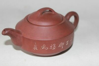 yixing antique signed teapot tea pot chinese 19th c century pottery characters