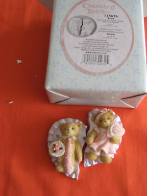 *SWEETHEART MAGNETS* 2 PCS. Refrigerator Magnets~Cherished Teddies NEW IN BOX