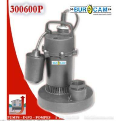 1/3Hp Heavy Duty Noryl Automatic Sump Pump W/Mechanical Switch 300600P