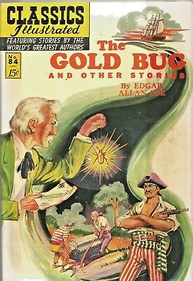 Classics Illustrated #84  The Gold Bug  Original  Hrn 85  Golden-Age 1951 Nice!!