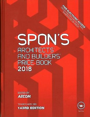 SPON'S Architects' and Builders' Price Book 2018 DIGITAL FORMAT