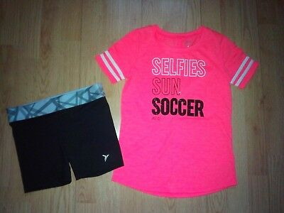 Justice Soccer & Old Navy Athletic 2 Piece Girls Outfit Size 8
