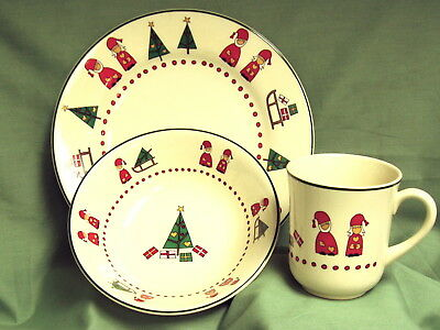 Wood & Sons~KOLDERUP CHRISTMAS 3 Piece  Set~New~Made in England