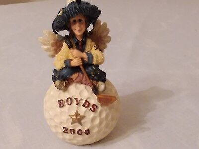 New 2000 Boyds Bears Folkstone Collection Fore Birdie Golf Club Ball Ornament