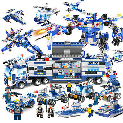 Le#go City Special Police Series SWAT: 8 IN 1 with Truck Station Building Blocks