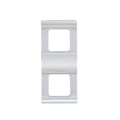 Chrome Plastic Freightliner Cascadia Switch Cover With 2 Openings