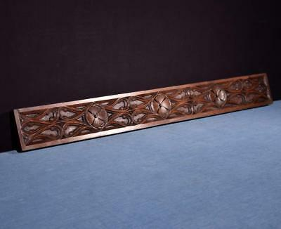 """*35"""" Neo Gothic Carved Architectural Panel Solid Walnut Salvage"""