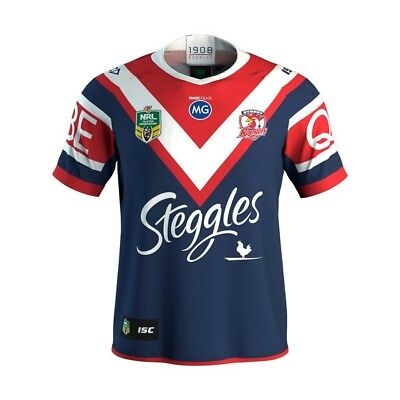 Large Nrl Sydney Roosters Shirt 2018/2019 Home Rugby League Jersey.