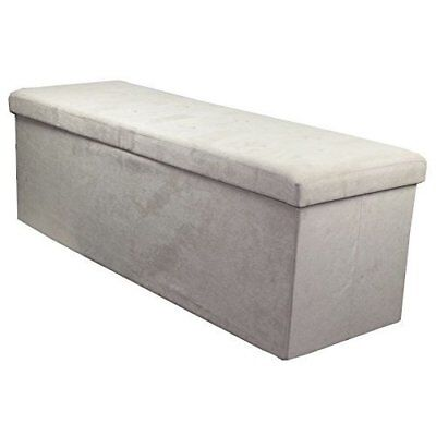 Sorbus Storage Bench Chest  Collapsible/Folding Bench Ottoman with Cover