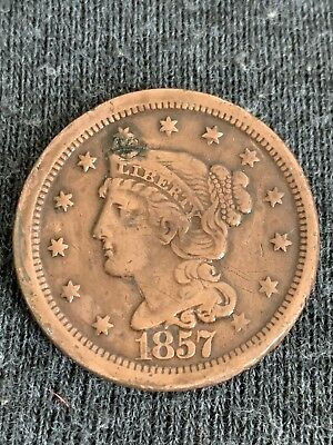 1857 XF+ LARGE Cent, SMALL Date, SUPER DETAILS & Eye APPEAL