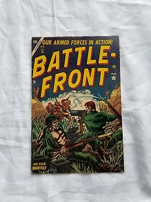 Battle front # 18  Our armed forces in action  10 cent  Comic 1954
