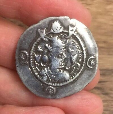 Ancient Persian. Sasanian (6Th / 7Th Century A.d). Silver Drachm