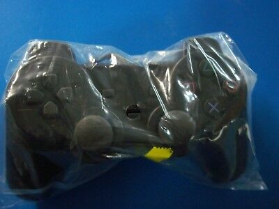 New BLACK Twin Vibration Controller for Sony PlayStation or PS2 USA Seller!