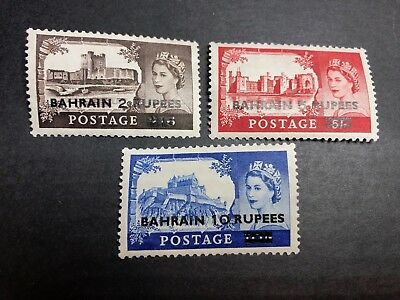 Bahrain Scott 96-8 Mint OG small crease LH CV $36.75