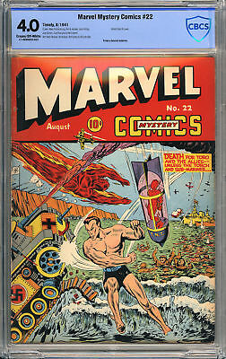 Marvel Mystery Comics #22 - Schomburg Cover - Pre-Pearl Harbor WWII - CBCS 4.0!