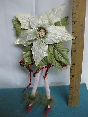 Dept. 56, Patience Brewster, Krinkles White Poinsettia Christmas Tree Ornament