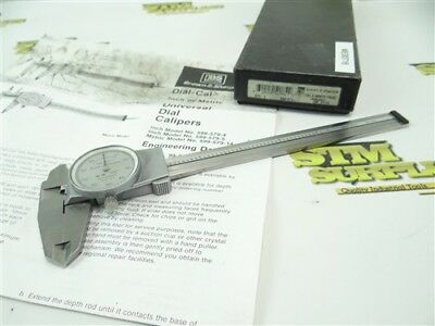 """Brown & Sharpe 6"""" Precision Dial Calipers Model 599-579-4 Swiss Made Shockproof"""