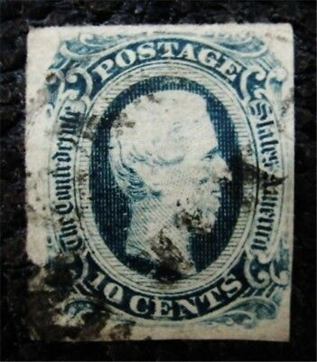 nystamps US CSA Confederate Stamp # 12 Used $20